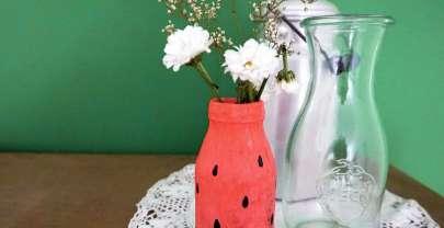 Sommerliche Melonen-Vasen