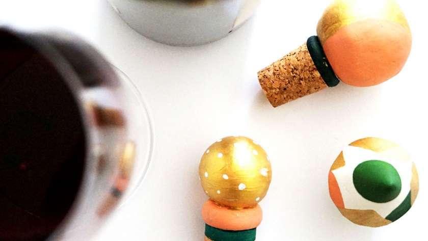DIY Flaschenverschluss aus Korken & Fimo