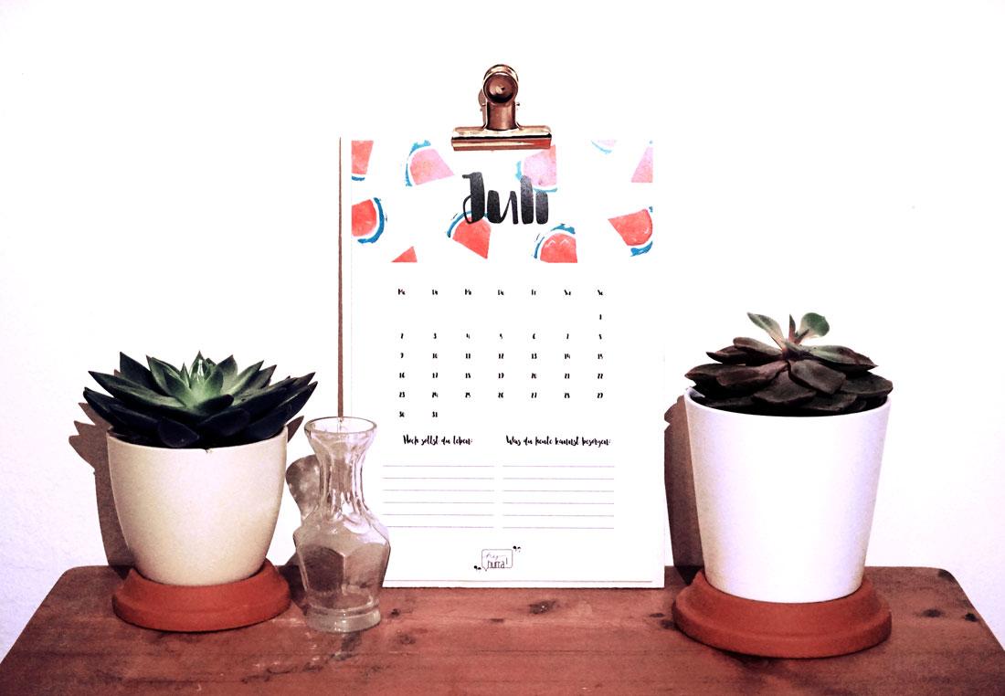 Freebie: Wandkalender 2018 zum Ausdrucken